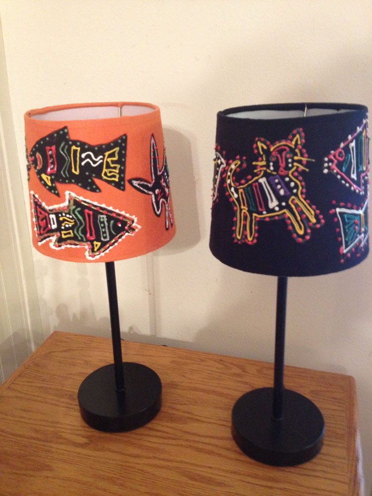 Folk Art Lamps